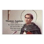 Theology Thomas Aquinas Rectangle Sticker