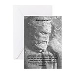 Anaximenes Air Philosophy Greeting Cards (Package