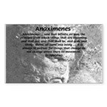 Anaximenes Air Philosophy Rectangle Sticker