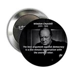 "Sir Winston Churchill 2.25"" Button (100 pack)"
