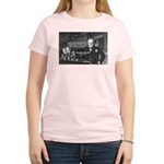 World War II Churchill Women's Pink T-Shirt