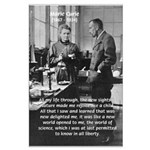 Marie Curie Physics Liberty Large Poster