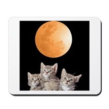 Three Kitten Moon Mousepad
