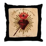 Heart of Jesus Throw Pillow