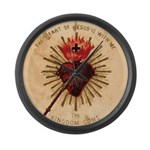 Heart of Jesus Large Wall Clock