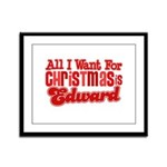 Edward Christmas Framed Panel Print