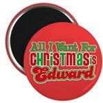 Christmas Edward 2.25&quot; Magnet (10 pack)