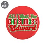 Christmas Edward 3.5&quot; Button (10 pack)