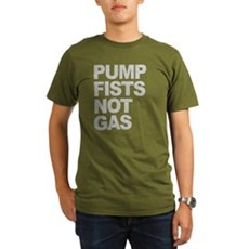 Pump Fists Not Gas Organic Mens Dark T-Shirt