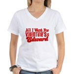 Edward Valentine Women's V-Neck T-Shirt