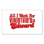Edward Valentine Rectangle Sticker