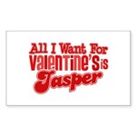 Jasper Valentine Rectangle Sticker 50 pk)