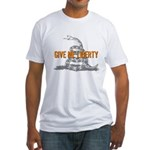 Give Me Liberty Rattlesnake Fitted T-Shirt