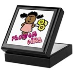 Ethnic Flowergirl Keepsake Box