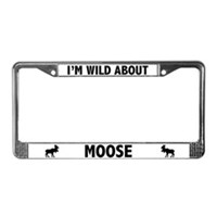 Moose License Plate Frames