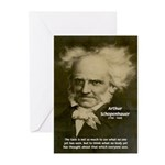 Arthur Schopenhauer Greeting Cards (Pk of 10)