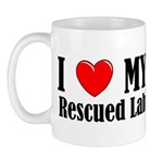 I Love My Rescued Lab Mug