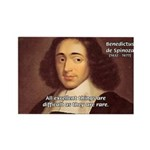 Spinoza Ethics Philosophy Rectangle Magnet (10 pac
