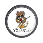 Peace Loving Hippy Wall Clock