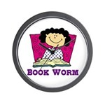 Book Worm Wall Clock
