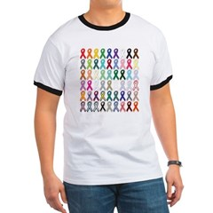 World Cancer Day tshirt - All causes ribbons