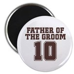 "Uniform Groom Father 10 2.25"" Magnet (10 pack)"