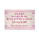 Personalized Save Date Rectangle Magnet (10 pack)