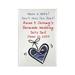 Boat Save the Date Rectangle Magnet