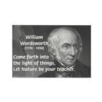 Nature Wordsworth Poetry Rectangle Magnet (10 pack