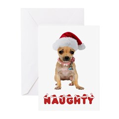 Naughty Chihuahua Christmas Cards