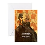 Cezanne Famous Paris Quote Greeting Cards (Package