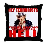 """No Virgins In Hell"" Throw Pillow"