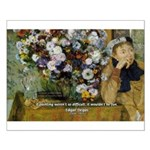Degas Difficulty of Painting Small Poster