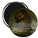 "Goya Colossus Fantasy Quote 2.25"" Magnet (100 pack"