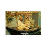 French Painter Manet Quote Rectangle Magnet (100 p