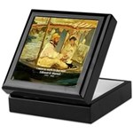 French Painter Manet Quote Keepsake Box