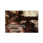 Michelangelo Perfection Quote Rectangle Magnet (10