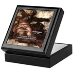Michelangelo Perfection Quote Keepsake Box