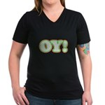 Christmas Oy! Women's V-Neck Dark T-Shirt