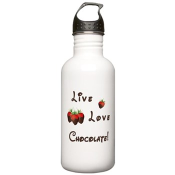 Live Love Chocolate Stainless Water Bottles, Can Coolers and Food Thermos