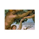 Sistine Chapel Adam & Eve Rectangle Magnet (10 pac