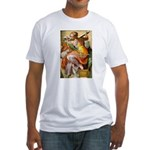Words on Genius Michelangelo Fitted T-Shirt