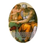 Michelangelo Art Philosophy Oval Ornament
