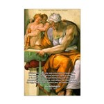 Michelangelo Art Philosophy Mini Poster Print