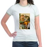 Michelangelo Art Philosophy Jr. Ringer T-Shirt