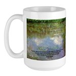 Monet Painting: Beauty Quote Large Mug