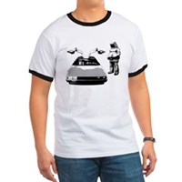 delorian and suit tshirt
