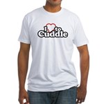 Fitted T-Shirt / Love to cuddle