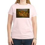 Artist Pissarro: How to Paint Women's Pink T-Shirt