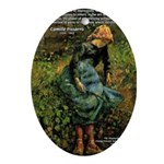 Pissarro Art of Impressions Oval Ornament